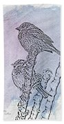 Winter Sparrows 2 Beach Towel