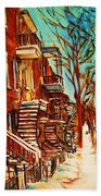 Winter Staircase Beach Towel