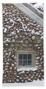 Winter Stone Pattern Beach Towel