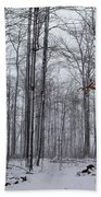Winter Storm In The Forest Beach Towel