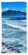 Winter Storm Surf At Ho'okipa Maui Beach Towel