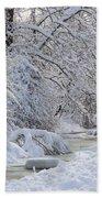 Winter Stream Beach Towel