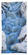 Winter Sunrise Great Falls Beach Towel