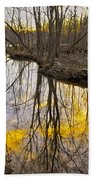 Winter Sunset At Williston Mill Beach Towel