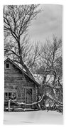 Winter Thoughts Monochrome Beach Towel