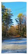 Winter To Spring Beach Towel