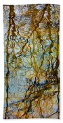 Winter Tree Reflections Beach Towel