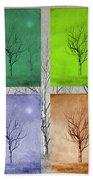 Winter Trees  Beach Towel by David Dehner