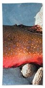 Winter Trout Beach Towel