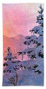Winter Twilight Beach Towel