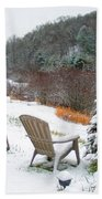 Winter Valley Chairs 2 Beach Towel