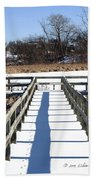 Winter Walkway Beach Towel