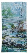 Winter Whispers On Catskill Creek Beach Towel