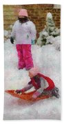 Winter - Winter Is Fun Beach Towel by Mike Savad