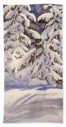 Winter Wonder Beach Towel
