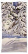 Winter Wonder Beach Towel
