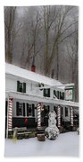 Winter Wonderland At The Valley Green Inn Beach Towel