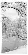 Winter Wonderland In Black And White Beach Towel