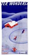 Winter Wonderland Beach Towel