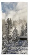 Winter Wonderland - Yellowstone National Park Beach Towel