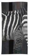 Winter Zebras Beach Towel