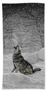 Winters Eve Howling Beach Towel