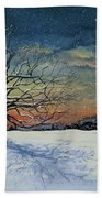 Winters Eve Beach Towel