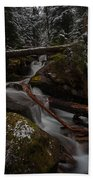 Winters Stream Flow Beach Towel