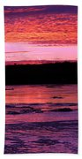 Winter's Sunset Beach Towel