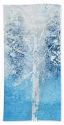 Wintry Mix Beach Towel by Linda Bailey