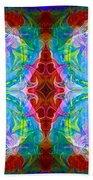 Wisdome And Mystery Abstract Pattern Artwork By Omaste Witkowski Beach Towel
