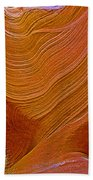 Wispy Relic In Lower Antelope Canyon In Lake Powell Navajo Tribal Park-arizona   Beach Towel