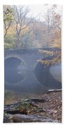 Wissahickon Creek And Bells Mill Road Bridge Beach Towel