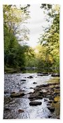 Wissahickon Creek Near Bells Mill Beach Towel