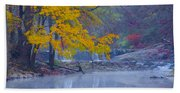 Wissahickon Morning In Autumn Beach Towel