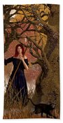 Witch Of The Autumn Forest  Beach Towel
