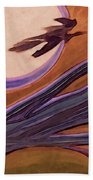 Witches' Branch Purple Beach Towel