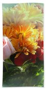 With Love Flower Bouquet Beach Towel