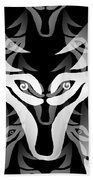 Wolf Mask Beach Towel