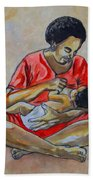 Woman And Child Beach Towel