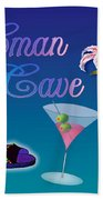 Woman Cave With Stargazers Beach Towel