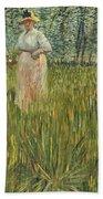 Woman In A Garden Beach Towel by Vincent van Gogh