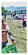 Woman In China Beach Towel