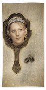 Woman In Mirror Beach Towel