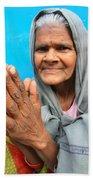 Woman Of India Beach Sheet
