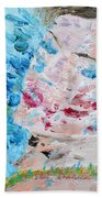 Woman With Necklace - Oil Portrait Beach Towel by Fabrizio Cassetta