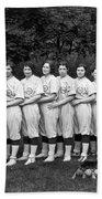 Women's Baseball Team Beach Towel