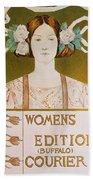 Womens Edition Buffalo Courier Beach Towel