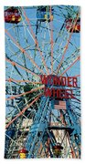 Wonder Wheel Of Coney Island Beach Towel