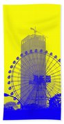 Wonderwheel In Blue And Yellow Beach Towel
